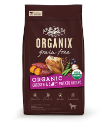 ORGANIX 無穀物全犬糧 – 有機雞肉甜薯配方 10lb