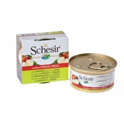 Schesir 天然水果水煮 - 雞肉蘋果飯罐頭 75g