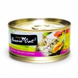 Fussie Cat 吞拿魚+雞肉 罐頭 80g