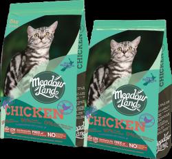 Meadowland 無穀物美體配方全貓糧 (雞肉) 5kg x2包優惠