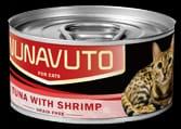 Nunavuto 吞拿魚蝦肉貓罐 80g