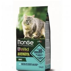 Monge 天然貓糧 無穀物鱈魚薯仔扁豆 成貓配方 貓乾糧 1.5kg