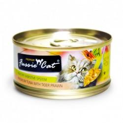 Fussie Cat 吞拿魚+虎蝦 罐頭 80g