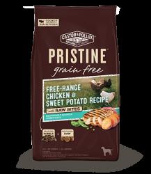PRISTINETM 無穀物全犬糧 – 放養雞甜薯配方+凍乾生肉塊 18lb