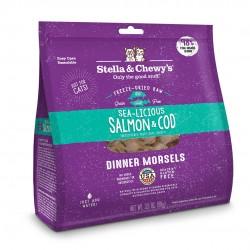 Stella & Chewy's  脫水貓糧 Freeze Dried Sea Licious Salmon Cod Dinner - 三文魚鱈魚配方 8oz