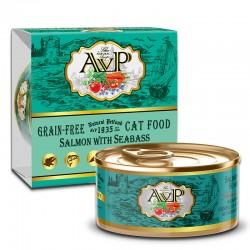 AVP 三文魚+海鱸魚 主食mousse 貓罐頭 85g
