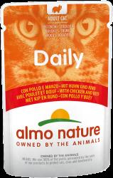 Almo Nature Dailymenu 雞肉及牛肉 貓濕糧 (袋裝) 70g