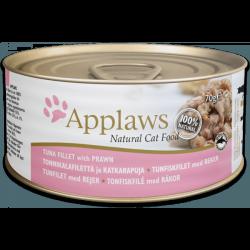 Applaws 天然貓罐頭 吞拿魚 & 蝦 156g x24罐優惠