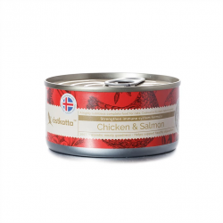 Astkatta 增強免疫力系列 - 走地雞肉+藍背三文魚 主食貓罐頭 170g (紅色) x24罐優惠