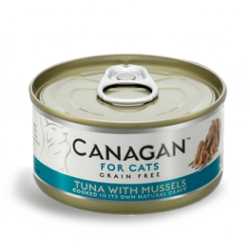 Canagan 原之選 吞拿魚+青口貓罐頭 (綠色) 75g