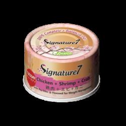 Signature7 [星期二]雞+蝦+蟹柳 體重控制 70g  X24罐原箱優惠