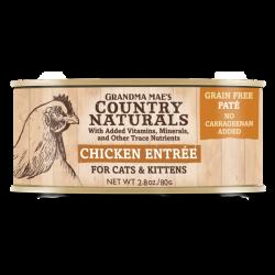 Country Naturals 無穀物走地雞肉泥配方 貓罐頭 2.8oz