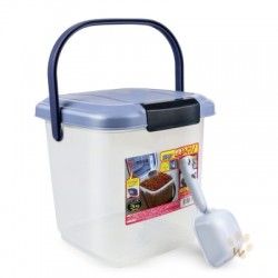 IRIS MY-3 密封防潮寵物儲糧桶 3kg (紫色)
