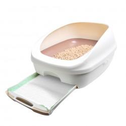日本 Unicharm 消臭大師 半封閉型雙層貓砂盤套裝