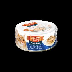 Cindy's Recipe Original 系列 - 鮮嫩雞肉湯 貓罐頭 80g (深藍色) x24罐 原箱優惠