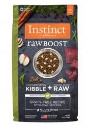 Nature's Variety Instinct 生肉粒 無穀物 鹿肉配方 狗糧 4磅