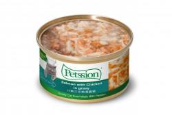 Petssion 汁煮三文魚滑雞柳 貓罐頭 80g