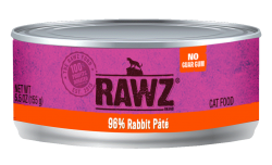 RAWZ 96% 兔肉配方 全貓罐頭 85g