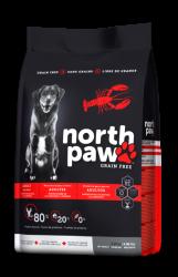 North Paw 成犬無穀物乾糧 大西洋海鮮 - 龍蝦 (紅色) 25磅