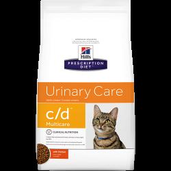[凡購買處方用品, 訂單滿$500或以上可享免費送貨]  Hill's c/d 泌尿道護理 獸醫配方 貓乾糧 8.5磅