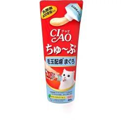 CIAO 貓貓食用益生菌 吞拿魚 化毛球(日本製) (乳酸菌肉泥膏)  80g