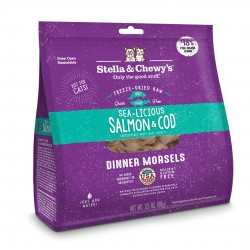 Stella & Chewy's  凍乾脫水貓糧 Freeze Dried Sea Licious Salmon Cod Dinner - 三文魚鱈魚配方 3.5oz