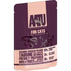 AATU 全配方貓濕糧包 雞+三文魚 85g