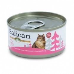 Salican 挪威森林 白肉吞拿魚+青口+南瓜湯 貓罐頭  85克