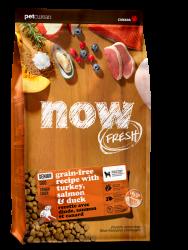 NOW FRESH!™ 全犬種 無穀物 老齡狗糧配方 (火雞+三文魚+鴨肉) 22磅