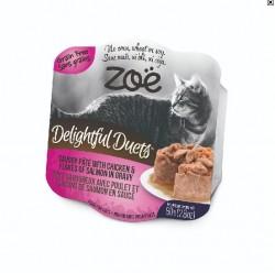 Zoe 開心雙層法式猫餐盒 - 雞肉+三文魚片 80g