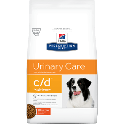 [凡購買處方用品, 訂單滿$500或以上可享免費送貨]  Hill's 處方食品™ c/d™ Multicare 狗隻泌尿道健康處方 狗糧 17.6磅
