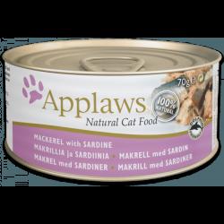 Applaws 鯖魚 + 沙甸魚 天然成貓罐頭 156g x24罐優惠