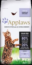 Applaws 無穀物 成貓乾糧 - 雞肉及鴨肉配方 7.5kg