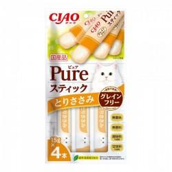 <<7月優惠>> 購物滿$300, 可以以$100換購5包 <<CIAO SC-334 <Pure 果凍片> 雞肉 15g (內含4小包)>>