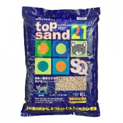 Top Sand 21 有機 單孔 通心豆腐貓砂 6L x3包優惠