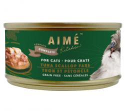 Aimé Kitchen 經典系列 上湯煮吞拿魚扇貝 貓罐 85g (綠罐) x24罐 原箱優惠