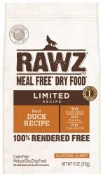 RAWZ 單一動物蛋白來源配方 無穀物鴨肉全犬乾糧 20磅