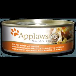 Applaws 天然貓罐頭 雞胸 & 南瓜 156g x24罐優惠