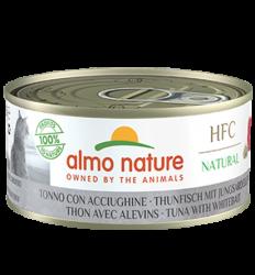 Almo Nature - HFC Natural系列 吞拿魚+白飯魚 (5127) 貓罐頭 150g