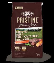 PRISTINETM 無穀物全犬糧 – 草飼牛甜薯配方+凍乾生肉塊 4lb