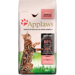 Applaws 全天然無谷物成貓糧雞肉&三文魚配方2kg