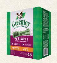 Greenies 潔齒骨 體重管理系列 - 迷你犬 27oz (45支/包)