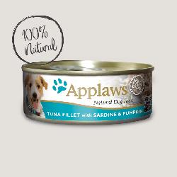 Applaws 天然狗罐頭 吞拿魚柳與沙甸魚 + 南瓜 156g