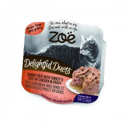 Zoe 開心雙層法式猫餐盒 - 火雞肉佐雞肉塊 80g x24罐優惠