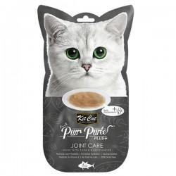 Kit Cat Purr Puree Plus+ 葡萄糖胺吞拿魚醬 (關節護理) 貓小食 60g (15g x4小包) <灰色>