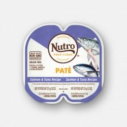 Nutro FEED CLEAN™ 三文魚+吞拿魚肉醬 貓罐頭 (1盒2格各37.5g) <紫色>