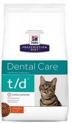[凡購買處方用品, 訂單滿$500或以上可享免費送貨]  Hill's t/d 口腔護理 獸醫配方 貓乾糧 8.5磅