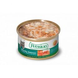 Petssion 汁煮三文滑雞 貓罐頭 85g  到期日: 07/Apr/21
