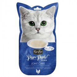Kit Cat Purr Puree Plus+ 葡萄糖胺雞肉醬 (關節護理) 貓小食 60g (15g x4小包) <藍色>