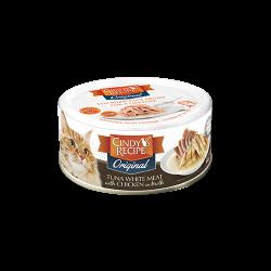 Cindy's Recipe Original 系列 - 特級吞拿魚+鮮嫩雞肉湯 貓罐頭 80g (啡色) x24罐 原箱優惠